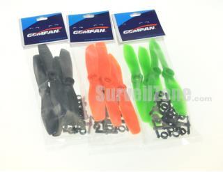 Gemfan 4 Pairs 5045 CW/CCW Bullnose Props for Mini 200 RC250/280 QAV250