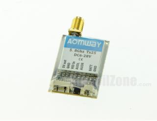 AOMWAY Tx25 5.8G 40CH AV 25/200mW Mini Wireless Tx