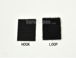 Nylon Self Adhesive Black Hook/Loop Square Velcro