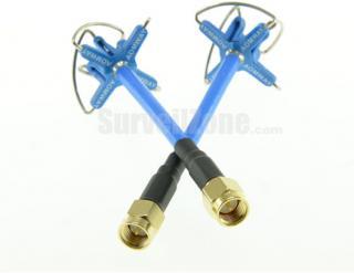 AOMWAY 5.8G 3dBi Four Lobe RHCP VTx/VRx FPV SMA Antenna Multimotor