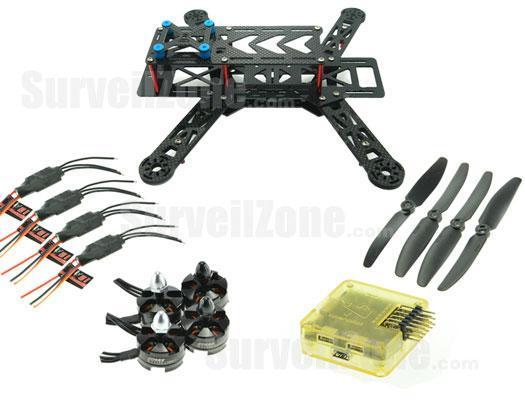 RC280 Ultra Light Carbon Fiber Quadcopter Multicopter Frame Set