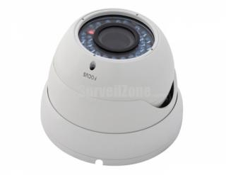 600TVL Cmos 100ft IR Waterproof Dome Security Camera with 2.8-12mm lens IR-cut Filter(white)