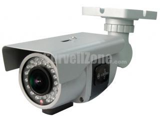 Ultra WDR Pixim 690HTVL Effective Waterproof Color IR Surveillance Camera With 2.8-12mm Auto Iris Lens