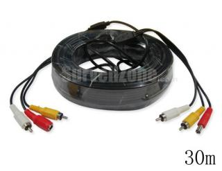 30m Video Audio Power RCA Extension CCTV Cable