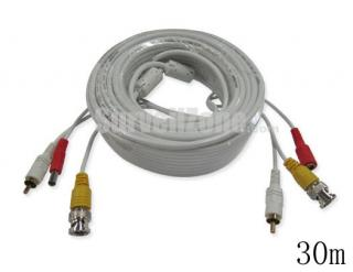 30m Video Audio Power BNC RCA Extension CCTV Cable