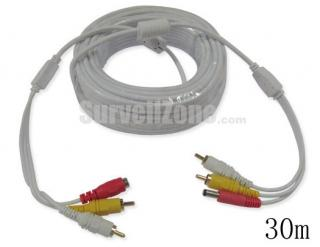 99ft Video Audio Power RCA Extension CCTV Cable