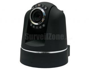 Network WIFI PT Security Color IR  IP Camera with two-way Audio(black)