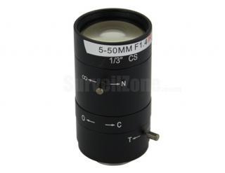 "1/3"" CS Mount 5-50mm Vari-focal CCTV Lens for Security Camera"