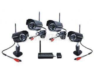 2.4GHz Digital Wireless Home Security Kit Waterproof 4X Camera USB DVR