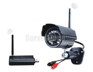 2.4GHz Digital Wireless Home Security Kit Waterproof Camera USB DVR
