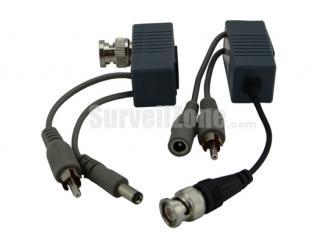 1 Pair of Passive Video Audio Power Transceiver CCTV Video Balun