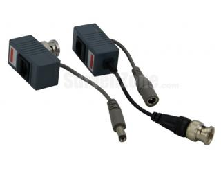 Passive Video Power CCTV Video Transmitter Receiver Balun(1 Pair)