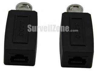 2 Passive CCTV Video Transmitter Receiver Balun(black)