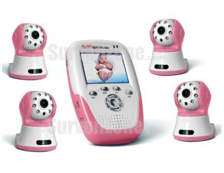 2.4GHz Digital Wireless Baby Monitor w/ 4X Camera Home Security Kit