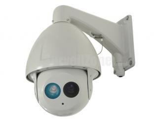 "7"" H.264 D1 23X Zoom  180m IR 650TVL Sony CCD High Speed IP PTZ Camera"