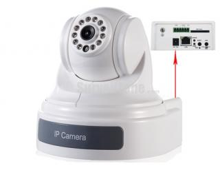 H.264 D1 Network Pan Tilt 650TVL IP Camera IR 15m Support iPhone