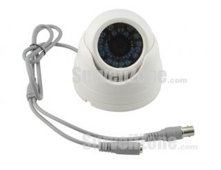 480TVL Sharp CCD 15m IR Indoor Dome Camera 3.6mm Lens