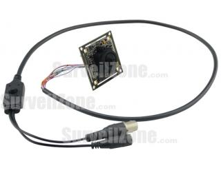 Sony CCD 600TVL Board Security Camera 3.7mm Pinhole Lens Cable OSD