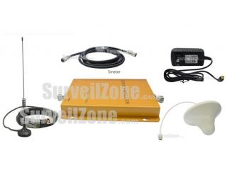 Wireless GSM 900M DCS 1800M Dual Band Mobile Phone Signal Amplifier RF Repeater (Sucker+Ceiling antenna)