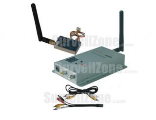4CH 2.4G Video Audio 1000mW Wireless Transmitter & Receiver for FPV