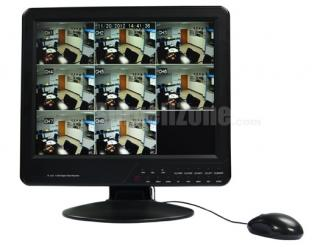 8CH Video Audio H.264 Network 15 Inch LCD All-in-one Standalone DVR