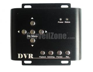2CH Video High-res D1 Mini DVR PIP Motion Detection