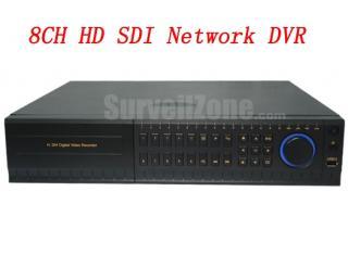 H.264 2U 8CH HD SDI DVR Support Iphone IPAD Remote Monitor