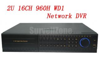 2U 16CH Real Time Full 960H WD1 Network DVR HDMI VGA Output E-SATA