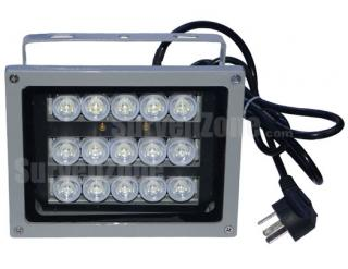 60 Meters Waterproof Night Vision 15 White LED Illuminator for CCTV