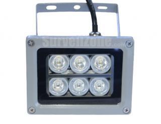 25 Meters Waterproof Night Vision White LED Illuminator