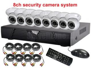 8CH Network DVR Indoor IR CCTV Camera System Cloud P2P Remote View