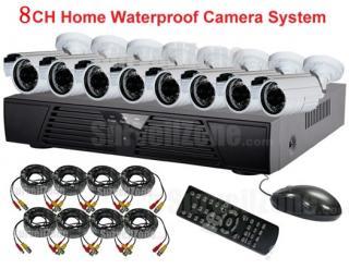 8CH Network DVR Outdoor IR CCTV Camera System Cloud P2P Remote View