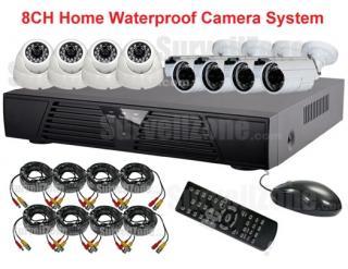 H.264 8CH Network DVR IR Camera System Cloud P2P
