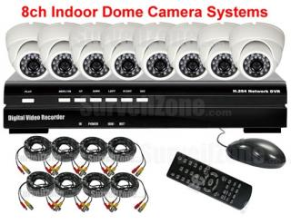8 Channel Real Time DVR CCTV System with 8 CMOS Indoor Cameras