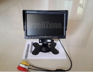 FPV 7 Inch LCD Monitor HD 800*480 Snow Screen Display w/ 2 AV Inputs