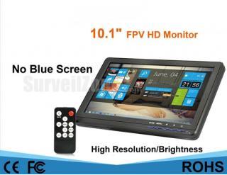 10.1 Inch HD High Brightness LED Monitor Snow Screen for FPV VGA HDMI Ports
