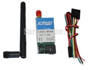 AOMWAY 5.8G 15CH AV 500mW Mini Wireless Transmitter for FPV Fatshark ImmersionRC Compatible