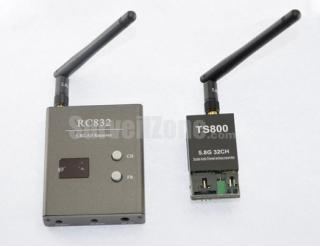 5.8G 32CH AV 1.5W Wireless Transmitter Receiver Kit for FPV