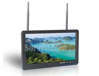 Built-in Dual 5.8G 32ch 10.1 Inch High Brightness LED Monitor Snow Screen Display