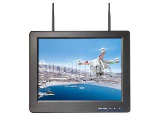 5.8G 40ch 12.1 Inch Monitor Built in Dual receiver Snow Screen Display