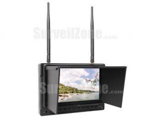 5.8G 40ch 7 Inch High Brightness FPV Monitor HD 1024*600 Snow Screen Inbuilt DVR and Battery