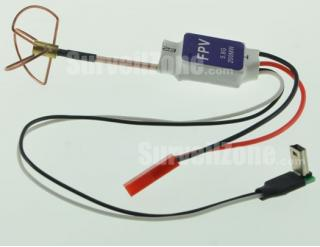 5.8G 8CH 200mW Wireless Transmitter with Clover Antenna & GOPRO Cable
