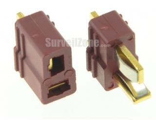 T Connectors Male/Female (1 pair)