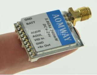AOMWAY 5.8G 32CH AV 200mW Mini Wireless Tx for FPV