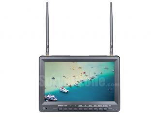 5.8G 40ch 10.1 Inch High Brightness FPV Monitor HD 1024*600 Snow Screen Inbuilt DVR and Battery
